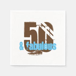 50 e guardanapo fabulosos da festa de aniversário