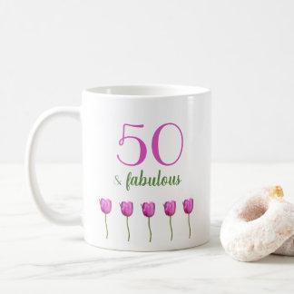 50 e tulipa magenta fabulosa da caneca | do