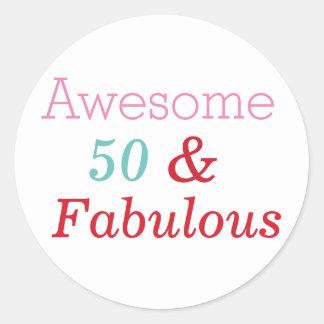50 & etiqueta do aniversário do divertimento