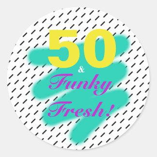 50 & etiqueta fresca Funky de |