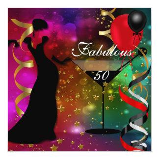 50 fabulosos senhora de Deco de cinqüênta festas Convite Quadrado 13.35 X 13.35cm