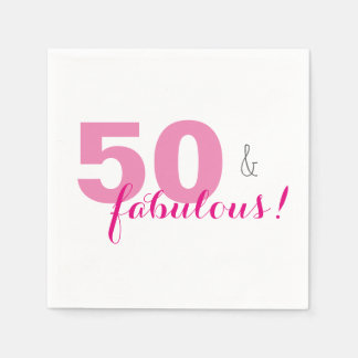 50 & guardanapo de papel da festa de aniversário