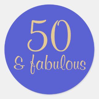 """50 impressos &"" 50th etiqueta fabulosa do"