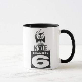 50 retro da caneca de KVIE/logotipo dos anos 60