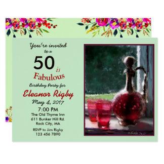 50 são 50th convite fabuloso do aniversário
