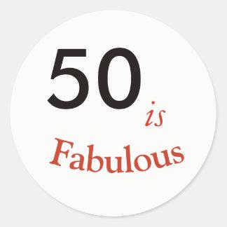 50 são 50th etiqueta fabulosa do aniversário