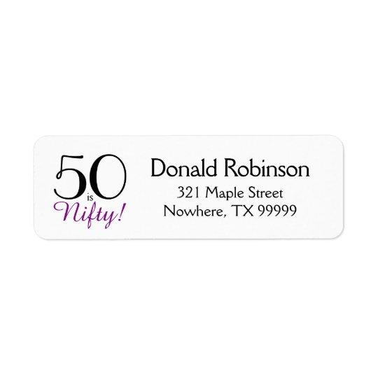 50 são astuciosos! 50th Etiqueta de endereço do