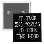 50th aniversário, 50 anos para olhar isto bom! boton