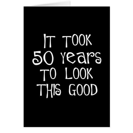 50th aniversário, 50 anos para olhar isto bom! cartões