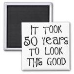 50th aniversário, 50 anos para olhar isto bom! imãs de geladeira