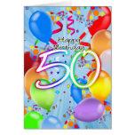 50th aniversário - cartão de aniversário do balão