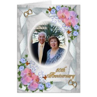 50th Aniversário com as orquídeas do convite da