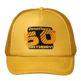 50th Aniversário com número listrado A12 do nome Boné