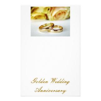 50TH Aniversário de casamento dourado Papelaria