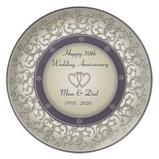 50th Aniversário de casamento Louça De Jantar
