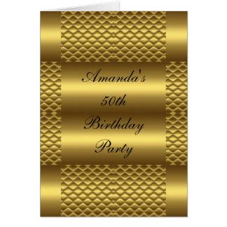 50th Aniversário do cartão de aniversário do ouro