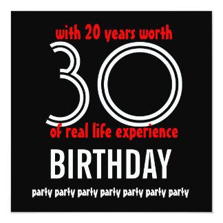 50th aniversário engraçado com 20 anos de convite quadrado 13.35 x 13.35cm