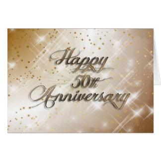 50th aniversário feliz (aniversário de casamento) cartão comemorativo