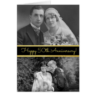 50th aniversário feliz cartão com fotos
