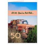 50th aniversário feliz ENGRAÇADO - caminhão da Cartão