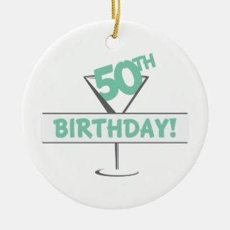 50Th Aniversário! Ornamento De Cerâmica Redondo
