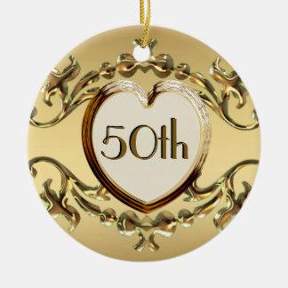 50th Aniversário ou 50th ornamento do aniversário