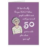 50th Aniversário para o cartão Ela-Engraçado Cartão Comemorativo