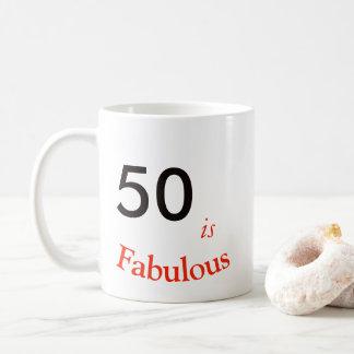 50th Caneca do aniversário