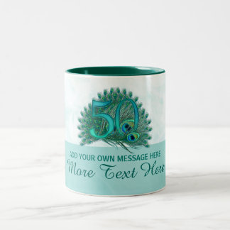 50th caneca elegante personalizada do texto do
