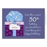 50th Cartão customizável do aniversário