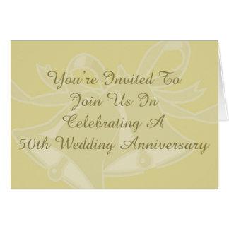 50th Cartão da festa de aniversário do casamento