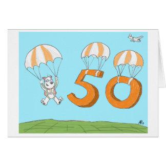 50th cartão de aniversário