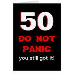 50th cartão de aniversário engraçado