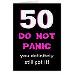 50th cartão de aniversário engraçado para mulheres