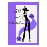 50th Cartão de aniversário para mulheres