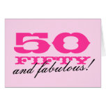 50th Cartão de aniversário para mulheres | 50 e fa