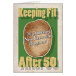 50th Cartão de aniversário: Programa fitness do sa