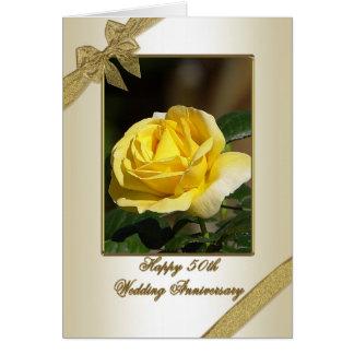 50th Cartão do aniversário de casamento