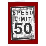 50th cartão engraçado do limite de velocidade do a