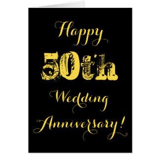 50th cartão feliz do aniversário de casamento