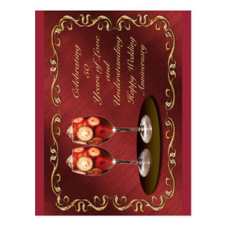 50th cartão feliz do aniversário de casamento cartão postal