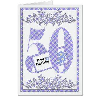 50th cartão feliz do guingão do aniversário