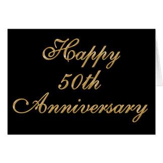 50th cartão personalizado do aniversário com SEU