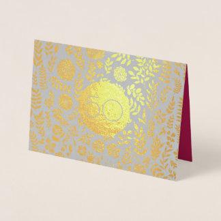 50th Cartões do aniversário de casamento dourado