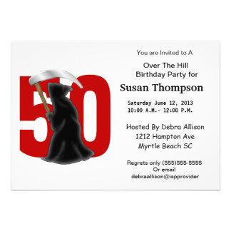 50th Ceifador engraçado do aniversário Convite