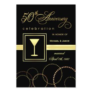 50th Celebração do aniversário de casamento - Convite 12.7 X 17.78cm