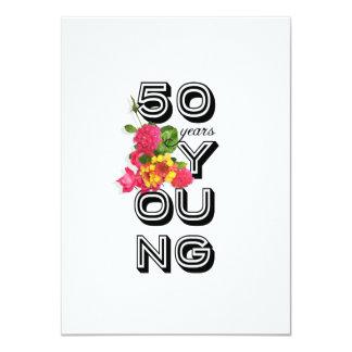 50th convite de aniversário - 50 anos novo