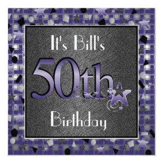 50th Convite de aniversário PERSONALIZADO