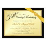 50th Convite de festas da surpresa do aniversário