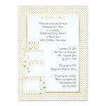 50th Convite do aniversário de casamento